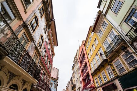 Ancient houses in old town of Coimbra, Portugal