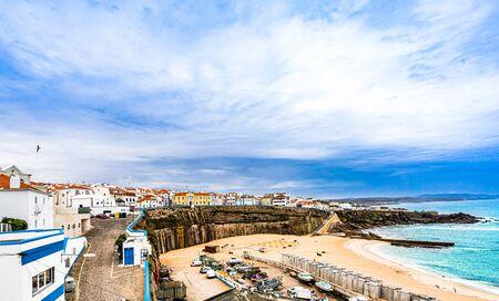 Ericeira harbor on the coast of Portugal 免版税图像 - 142126158