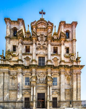 Facade Of Sao Lourenco Saint Lawrence Church and View Of The City Of Porto