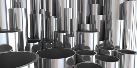 3d cylindrical tubes Stock Photo - 9893419