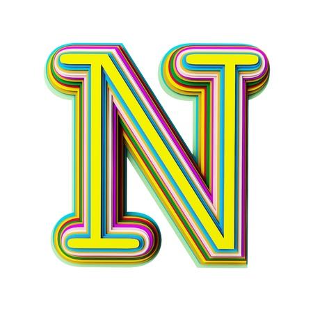 Illustration of the letter N Stock Illustration - 9893493