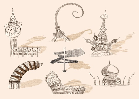 moscow churches: Created with adobe illustrator. It is a vector file scale it to any size.
