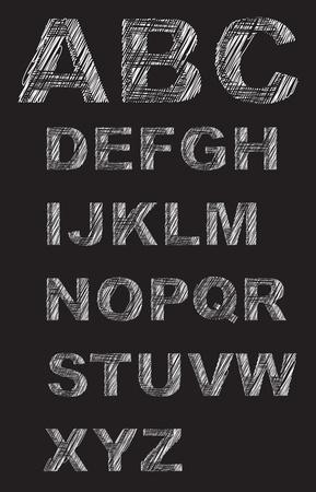 language school: Letters illustration
