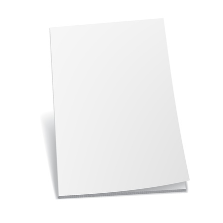 blank brochure: Blank paper Illustration