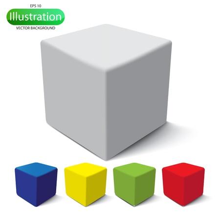 objetos cuadrados: Creado con Adobe Illustrator es una escala de archivo vectorial a cualquier tama�o Vectores