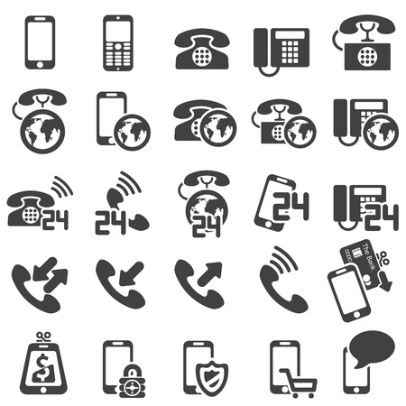 telephone line: set of phone icons Illustration