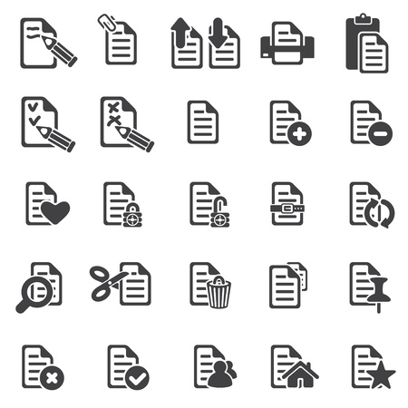 set of files icons Stock Vector - 16630686