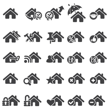 home icon: Set of home icons Illustration