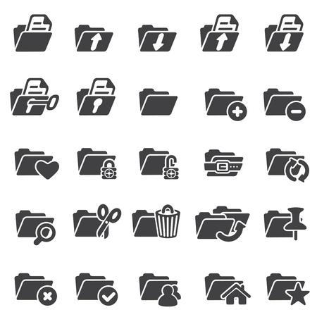 Set of folder icons Stock Vector - 16630684