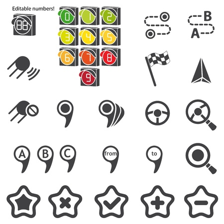 navigational light: Set of navigational icons