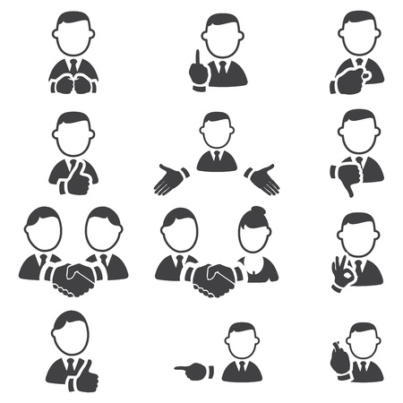 Set of gesture icons Stock Vector - 16855054