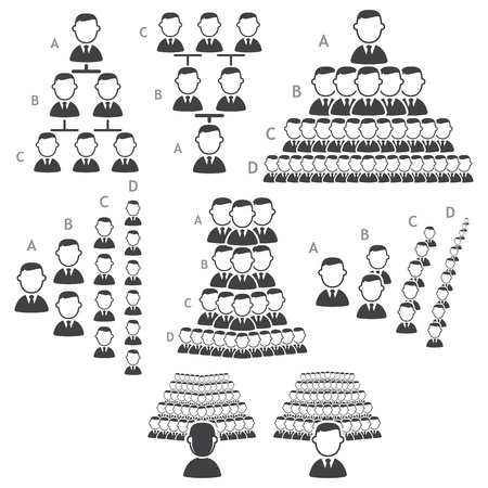 Set of hierarchy icons Stock Vector - 16855060