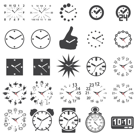 Set of watch icons Stock Vector - 16878532