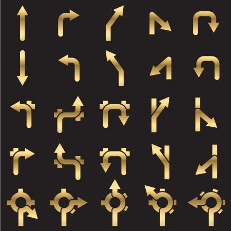 road ring: Set of navigational icons