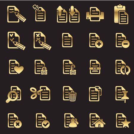set of files icons Stock Vector - 16878535