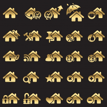 Set of home icons Stock Photo - 16878541