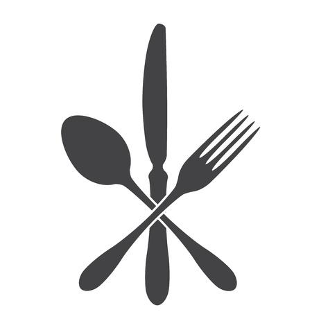 cuchara, cuchillo y tenedor - cross