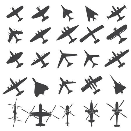 aerei: Icons set Aerei