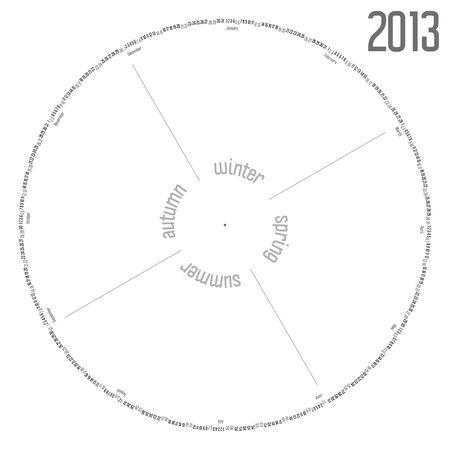 Round calendar 2013 Stock Vector - 17302532
