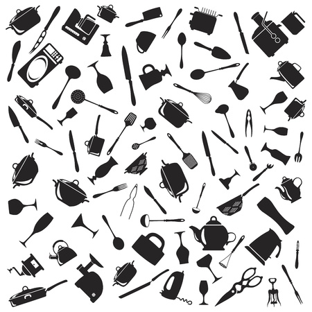 Set of cutlery icons Stock Vector - 17302415