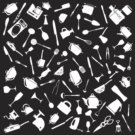 Set of cutlery icons Stock Vector - 17302526