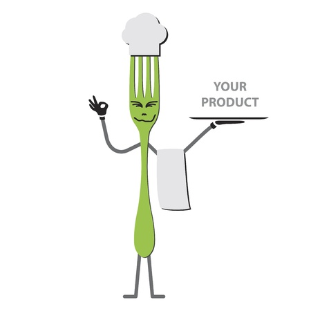 Fork cartoon Vector