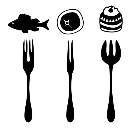 Set of cutlery icons Stock Vector - 17302522