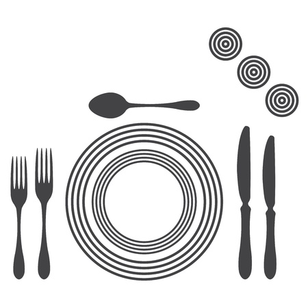 Etiquette Proper Table Setting Stock Vector - 17302523