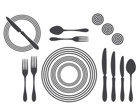 Etiquette Proper Table Setting Stock Vector - 17302521