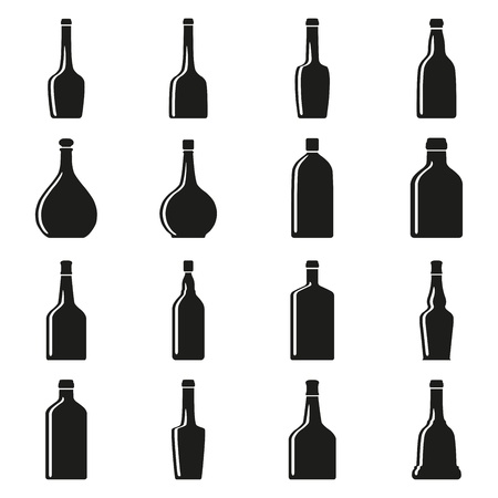 Set of bottles silhouettes Stock Vector - 17448086