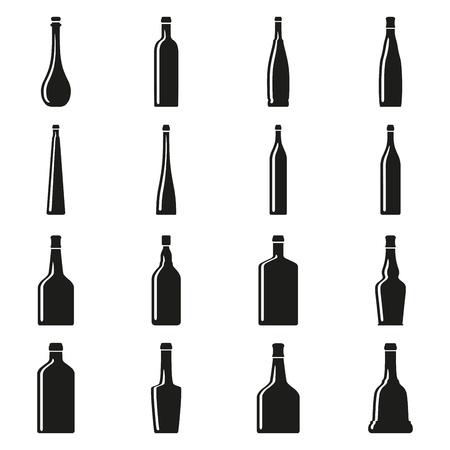 Set of bottles silhouettes Stock Vector - 17448087