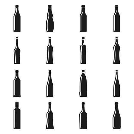 Set of bottles silhouettes Stock Vector - 17448084
