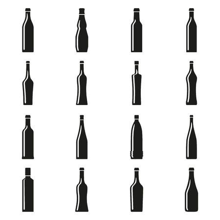 Set of bottles silhouettes Stock Vector - 17448084