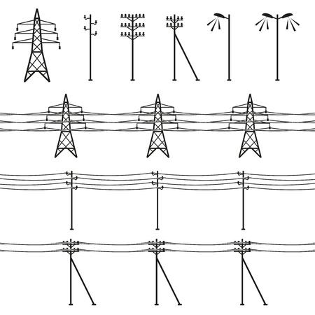 генератор: Линии электропередачи высокого напряжения Иллюстрация