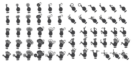 Set of multitouch gestures Stock Vector - 18140300