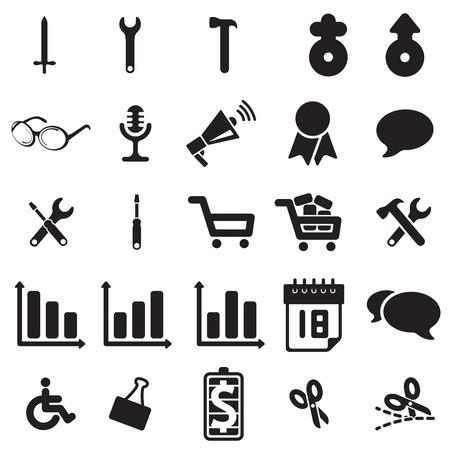Universal web icons Stock Vector - 18239190