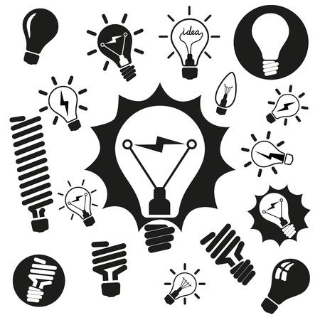 wolfram: Light bulbs  Bulb icon set