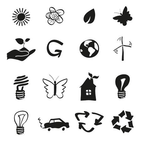 Icônes Ecologie et recyclage