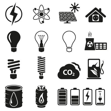 dioxido de carbono: Energía y juego de recurso de icono Vectores