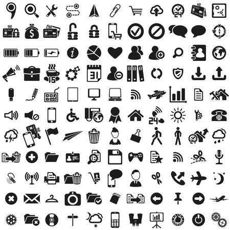 conjunto de iconos web universal Ilustración de vector