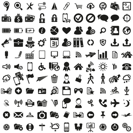 bank cart: universal web icons set Illustration
