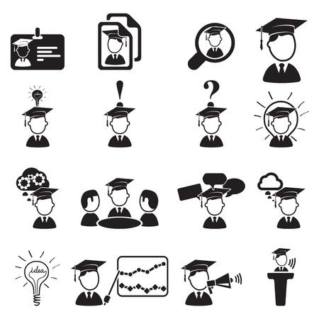 onderwijs icons set