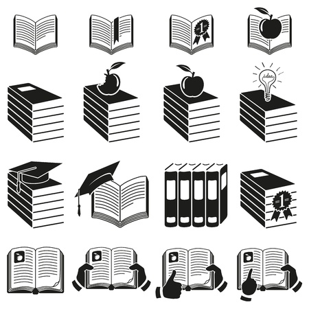 Set of icons of books Stock Vector - 18537703