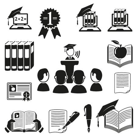 iconos educacion: Iconos educativos creada