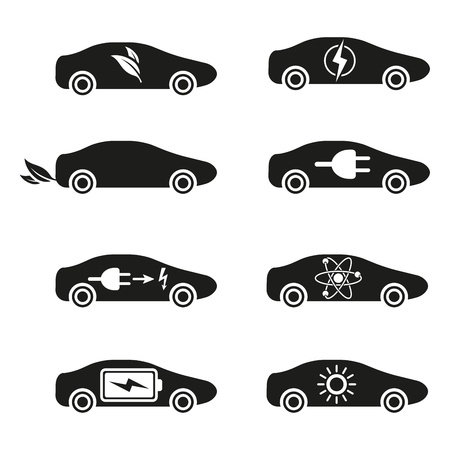 atomic nucleus: Set of Different Fuel icons Illustration