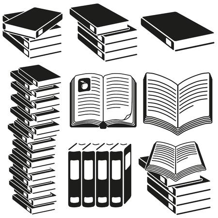encyclopedias: Conjunto de iconos de libros
