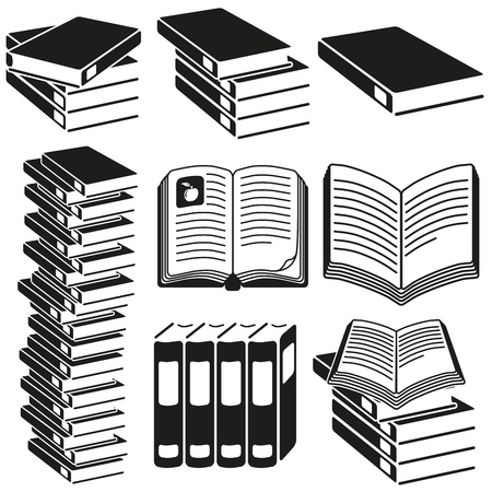 Set of icons of books