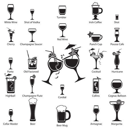 whiskey: Стекло набор Иллюстрация