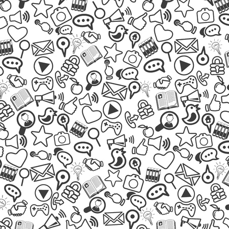 liked: Background of universal web icons