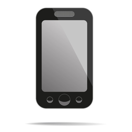 cell phone icon: Mobile phone with blank screen